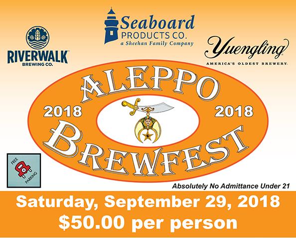 Aleppo Brewfest, 9/29/2018