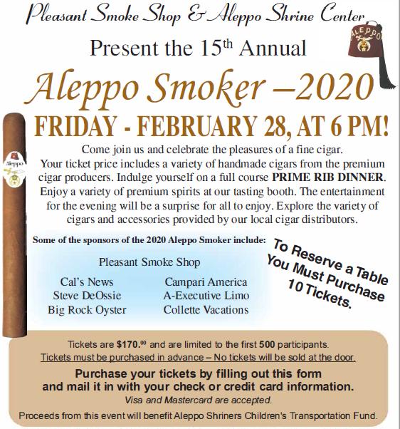 Aleppo Smoker – Cigar Night 2020